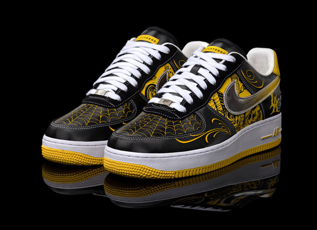 The Nike Sportswear x Livestrong x Mister Cartoon Air Force 1 will launch at